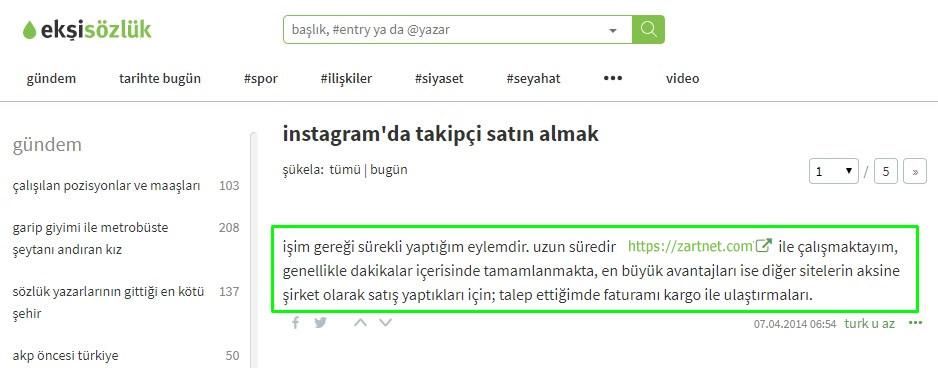 instagram'da takipçi satın almak ekşi sözlük ne diyor?