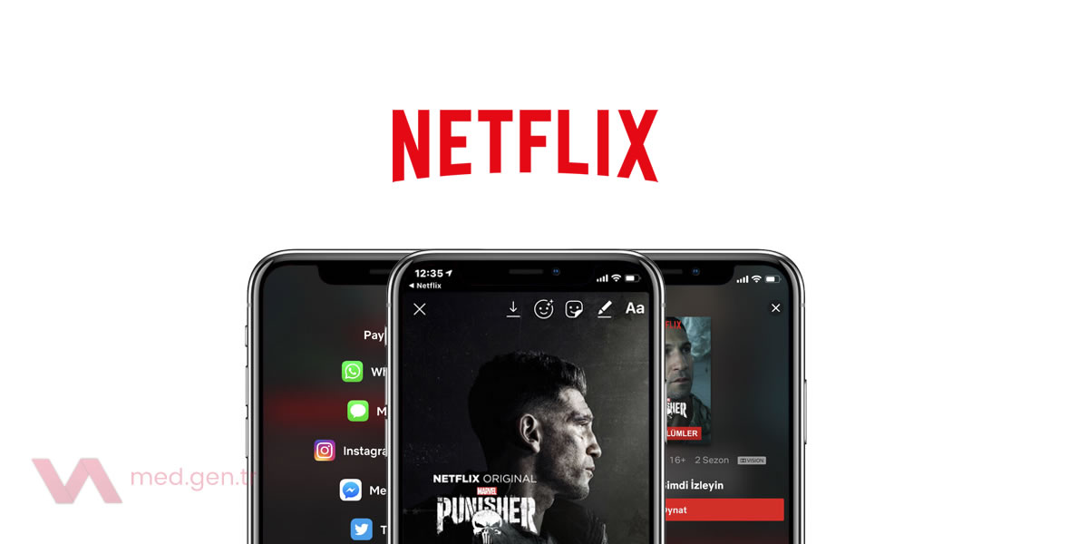 Instagram Hikayelerinde Netflix Posteri Paylaşmak